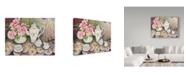 "Trademark Global Joanne Porter 'Tea Time Pink' Canvas Art - 35"" x 47"""