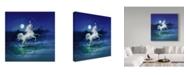 """Trademark Global Kirk Reinert 'Frolicking Unicorn' Canvas Art - 35"""" x 35"""""""