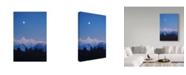 """Trademark Global Ron Parker 'Alpenglow Moon' Canvas Art - 22"""" x 32"""""""