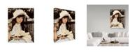 "Trademark Global Sharon Forbes 'Lilies' Canvas Art - 35"" x 47"""