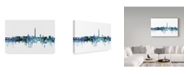 "Trademark Global Michael Tompsett 'Washington DC Blue Teal Skyline' Canvas Art - 24"" x 16"""