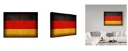"Trademark Global Red Atlas Designs 'Germany Distressed Flag' Canvas Art - 24"" x 18"""