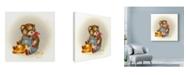 "Trademark Global Peggy Harris 'Country Teddy' Canvas Art - 24"" x 24"""