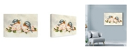 "Trademark Global Peggy Harris 'Love Is In The Air Birds' Canvas Art - 32"" x 22"""