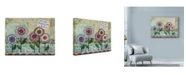 "Trademark Global Let Your Art Soar 'Live Well Flowers' Canvas Art - 32"" x 24"""