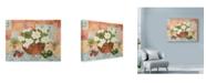 """Trademark Global Lorraine Platt 'Cottage Garden White Floral' Canvas Art - 32"""" x 24"""""""
