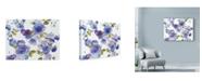 """Trademark Global Marietta Cohen Art And Design 'Rose Dust Blue' Canvas Art - 47"""" x 35"""""""