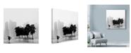 "Trademark Global Nina Papiorek 'Singapore Umbrella' Canvas Art - 35"" x 35"""
