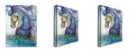 "Trademark Global Osay 'Caballo Azul' Canvas Art - 32"" x 24"""