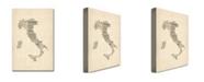 "Trademark Global Michael Tompsett 'Italy - Old Sheet Music Map' Canvas Art - 32"" x 22"""
