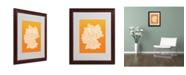 """Trademark Global Michael Tompsett 'ORANGE-Germany Regions Map' Matted Framed Art - 20"""" x 16"""""""