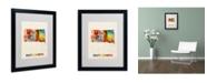 """Trademark Global Michael Tompsett 'South Dakota Map' Matted Framed Art - 20"""" x 16"""""""