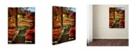 """Trademark Global Lois Bryan 'Autumn Stairway' Canvas Art - 32"""" x 22"""""""