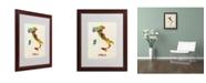 "Trademark Global Michael Tompsett 'Italy Watercolor Map' Matted Framed Art - 20"" x 16"""