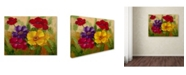 "Trademark Global Rio 'Flowers' Canvas Art - 32"" x 24"""