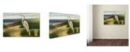 "Trademark Global Victor Giton 'One Heron at the Beach' Canvas Art - 32"" x 22"""