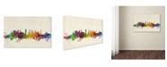 "Trademark Global Michael Tompsett 'Glasgow Scotland Skyline' Canvas Art - 24"" x 16"""