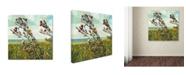 "Trademark Global Michelle Calkins 'Thistles on the Beach' Canvas Art - 35"" x 35"""