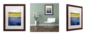 "Trademark Global Michelle Calkins 'Coastal Dunes' Matted Framed Art - 20"" x 16"""
