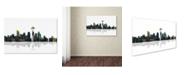 "Trademark Global Marlene Watson 'Seattle Washington Skyline' Canvas Art - 22"" x 32"""