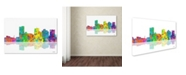 "Trademark Global Marlene Watson 'Phoenix Arizona Skyline' Canvas Art - 22"" x 32"""