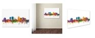 """Trademark Global Michael Tompsett 'Christchurch Skyline II' Canvas Art - 30"""" x 47"""""""