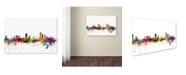 """Trademark Global Michael Tompsett 'Liege Belgium Skyline' Canvas Art - 30"""" x 47"""""""