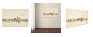 "Trademark Global Michael Tompsett 'Berlin Germany Skyline Sheet Music' Canvas Art - 22"" x 32"""