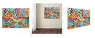 "Trademark Global Michael Tompsett 'Pittsburgh Pennsylvania Street Map IV' Canvas Art - 24"" x 32"""