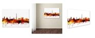 "Trademark Global Michael Tompsett 'Paris France Skyline II' Canvas Art - 30"" x 47"""