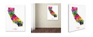 "Trademark Global Michael Tompsett 'California Map' Canvas Art - 24"" x 32"""