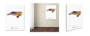 "Trademark Global Michael Tompsett 'North Carolina Map' Canvas Art - 24"" x 32"""