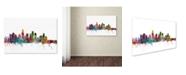 "Trademark Global Michael Tompsett 'Los Angeles California Skyline' Canvas Art - 26"" x 40"""