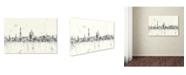 "Trademark Global Marlene Watson 'Washington DC Skyline Mclr-1 Blueprint' Canvas Art - 12"" x 19"""
