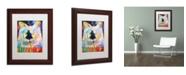 """Trademark Global Richard Wallich 'Mac' Matted Framed Art - 11"""" x 14"""""""