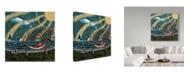 "Trademark Global Jake Hose 'Story Time' Canvas Art - 14"" x 14"""