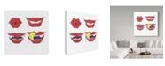 "Trademark Global Jessmessin 'Vampire Lips' Canvas Art - 14"" x 14"""