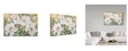 "Trademark Global Joanne Porter 'Peonies Dressed In White' Canvas Art - 12"" x 19"""