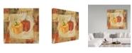 "Trademark Global Lisa Audit 'Veggie Toss II' Canvas Art - 14"" x 14"""