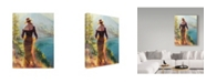 "Trademark Global Steve Henderson 'Lady Of The Lake' Canvas Art - 14"" x 19"""