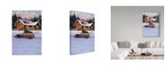 "Trademark Global William Breedon 'Log Cabin' Canvas Art - 12"" x 19"""