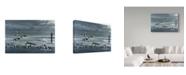 "Trademark Global Wilhelm Goebel 'Chop Tank Gathering' Canvas Art - 12"" x 19"""