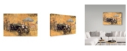 "Trademark Global Peter Miller 'Garden Party with the Bentley' Canvas Art - 12"" x 19"""