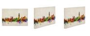 """Trademark Global Michael Tompsett 'Hong Kong Skyline' Canvas Art - 14"""" x 19"""""""