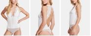 Free People Melrose Open-Back Lace-Trim Bodysuit