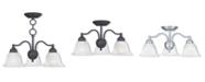 Livex Essex 3-Light Convertible Dinette Chandelier/Ceiling Mount