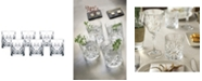 Lorren Home Trends Melodia Crystal Double Old Fashioned Glass - Set of 6