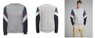 Jack & Jones Jack and Jones Men's Sweatshirt With Retro Style Sleeves