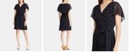 Lauren Ralph Lauren Polka-Dot-Print Georgette Cape-Overlay Dress