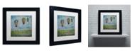 "Trademark Global Nicole Dietz 'Up and Away' Matted Framed Art - 11"" x 11"""